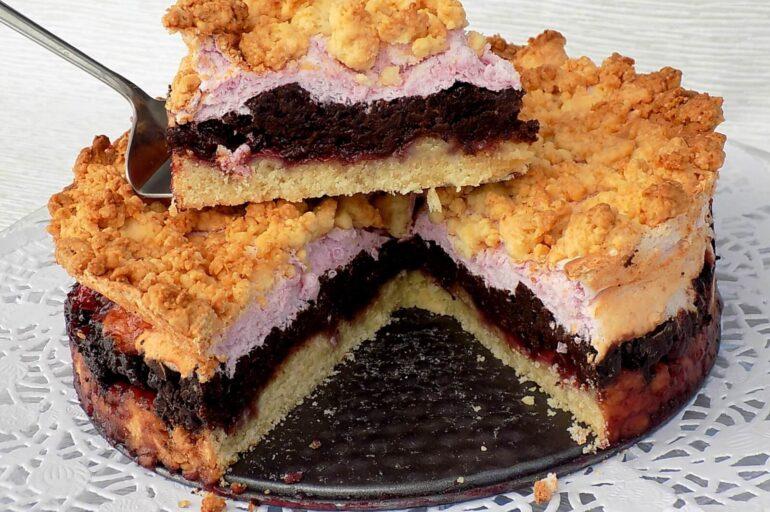 Ciasto skubaniec sypany – warstwowy