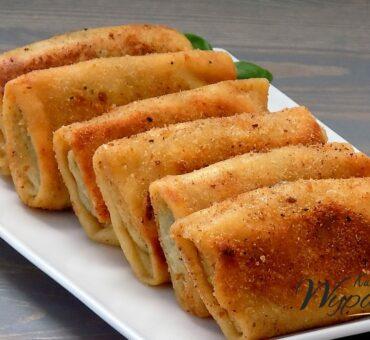 Domowe krokiety z pieczarkami i serem