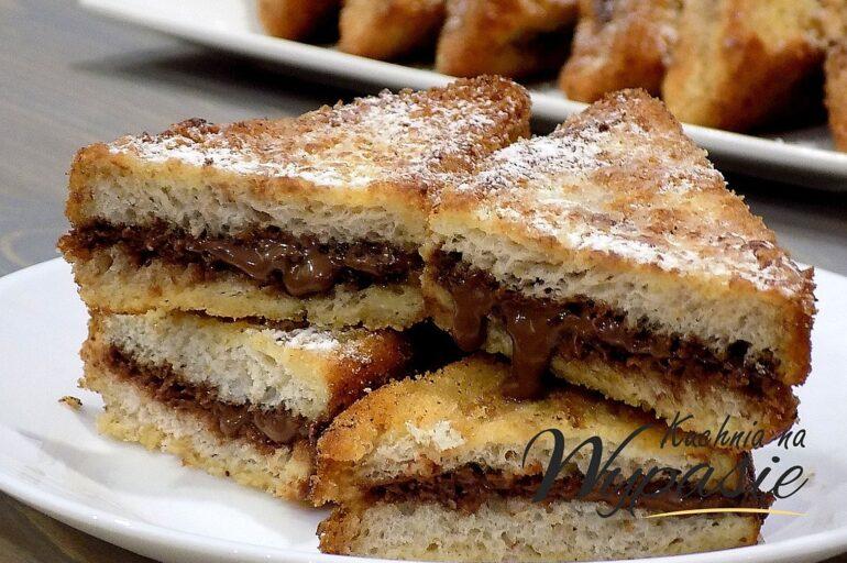 Panierowane tosty z Nutellą