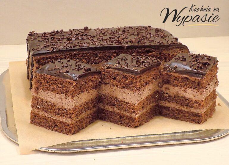 Ciasto barbórkowe z polewą czekoladową