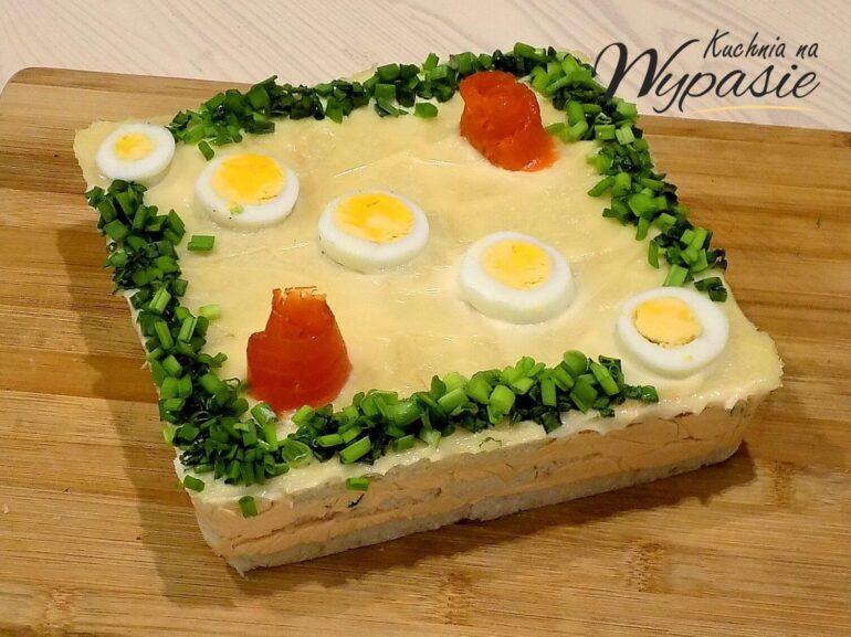 Zimne ciasto z łososiem