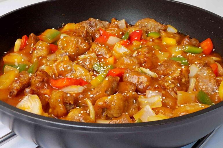 Wieprzowina w sosie słodko – kwaśnym