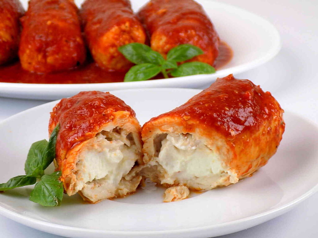 Roladki z kurczaka z serem feta