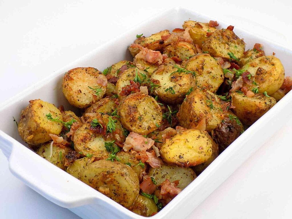 Pieczone młode ziemniaki