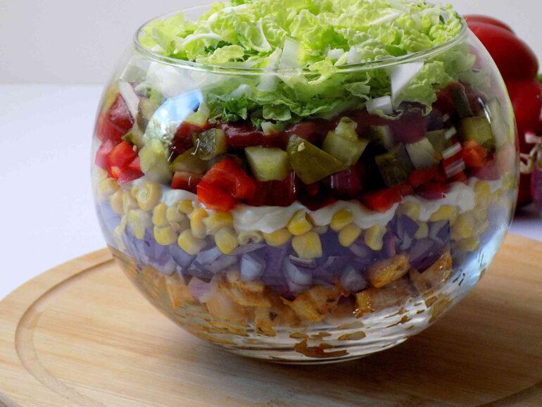 Sałatka Gyroszdjęcie potrawy według przepisu kuchni na wypasie