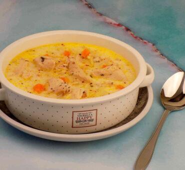 Szybka zupa z piersią kurczaka